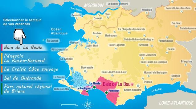 Ou Se Trouve La Baule Sur La Carte De France | My blog