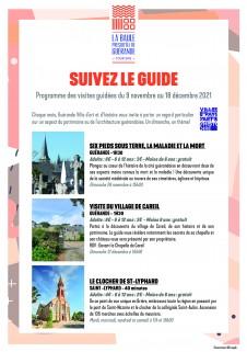 Programme des visites guidées Septembre à Décembre 2020