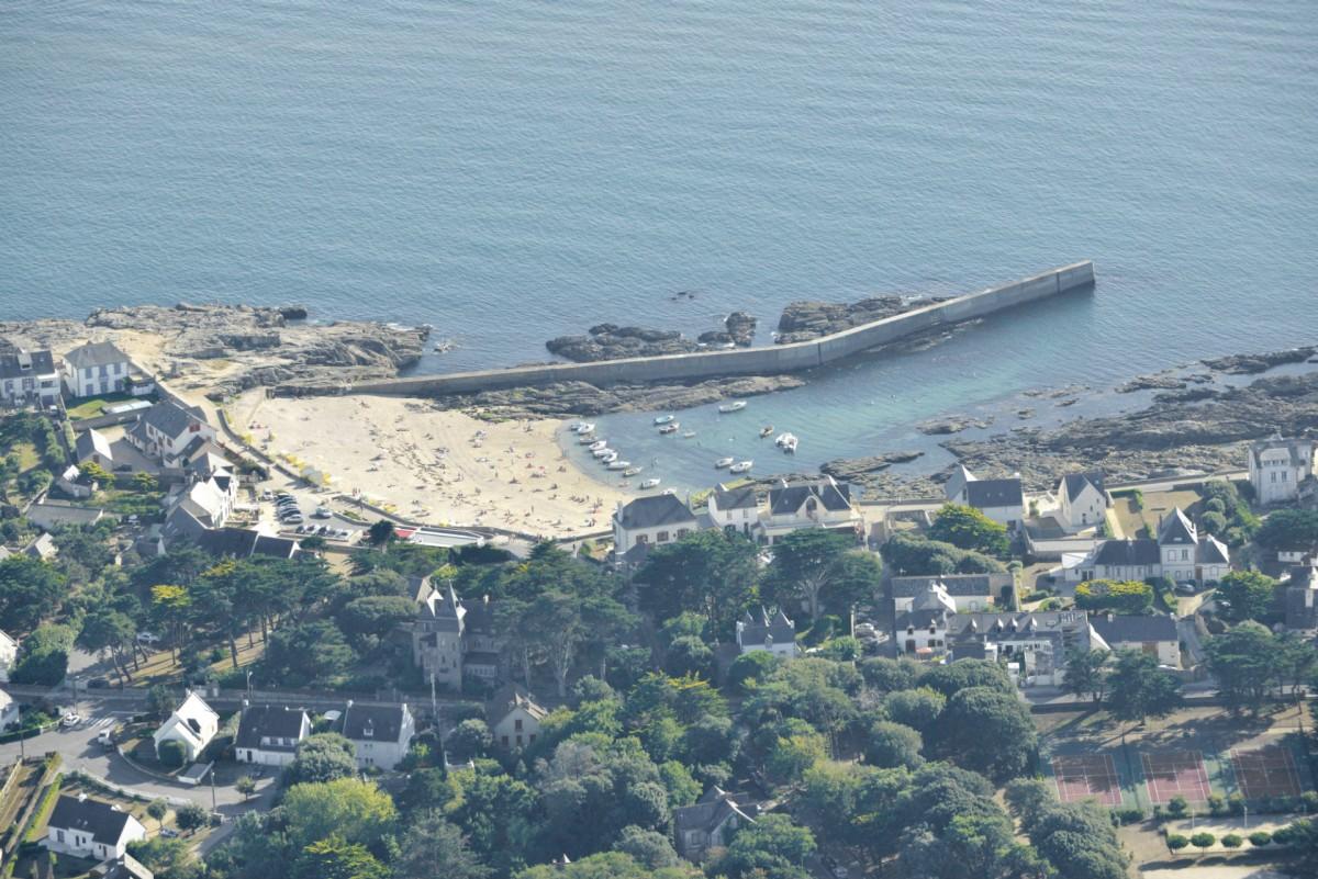 Plage Saint-Michel à Batz-sur-Mer vue du ciel - Teddy Locquard