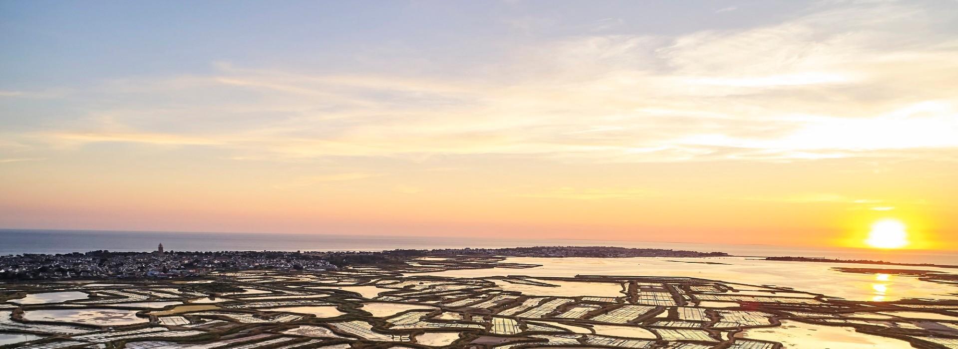 Vue depuis les marais salants de Guérande sur Batz-sur-Mer - Alexandre Lamoureux