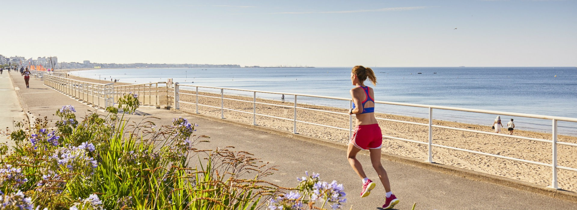 Jogging sur le remblai de La Baule - Alexandre Lamoureux
