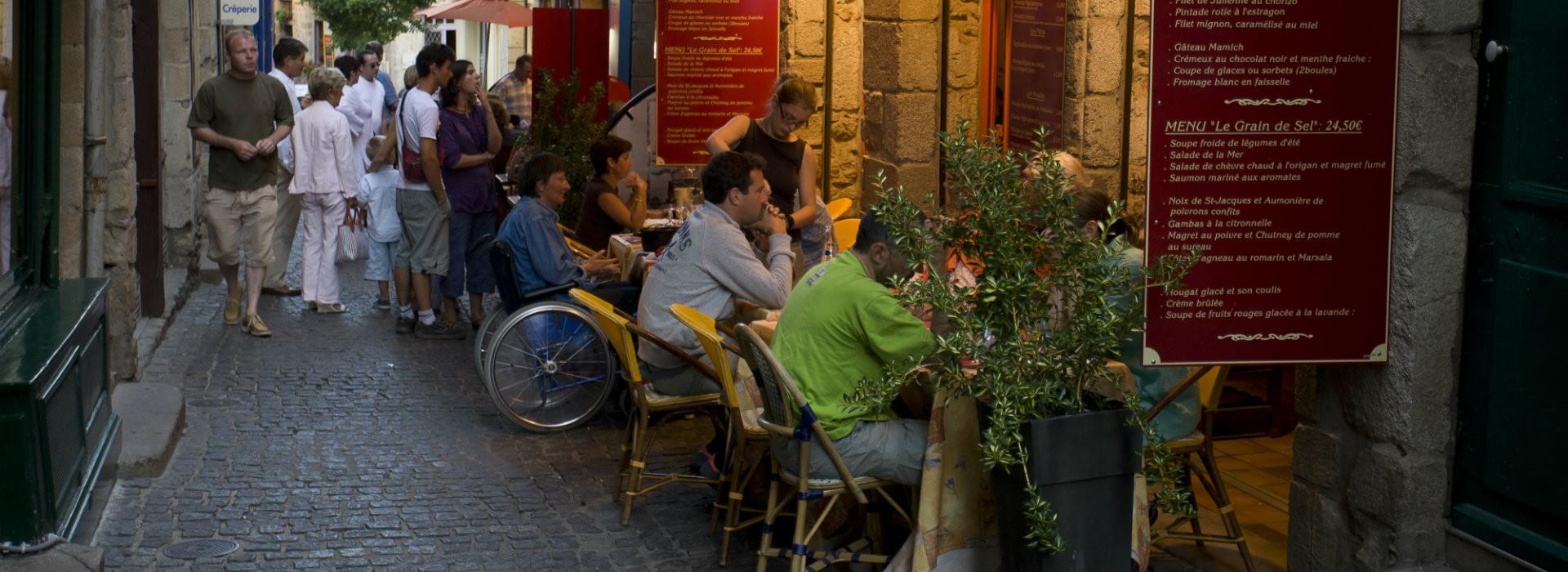 Restaurants accessibles La Baule Presqu'île de Guérande