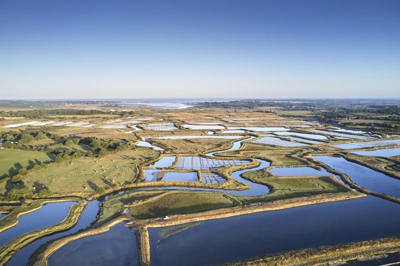 140 hectares de marais salants : le bassin du Mès Saint Molf