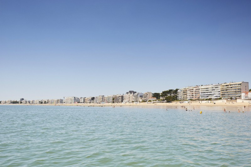 La baie de La Baule depuis la mer - Alexandre Lamoureux