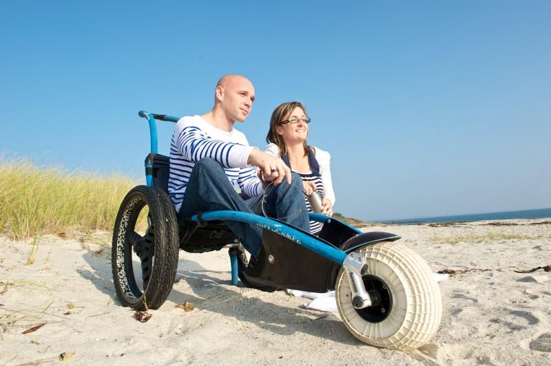 Plage accessible handicap La Baule Presqu'île de Guérande