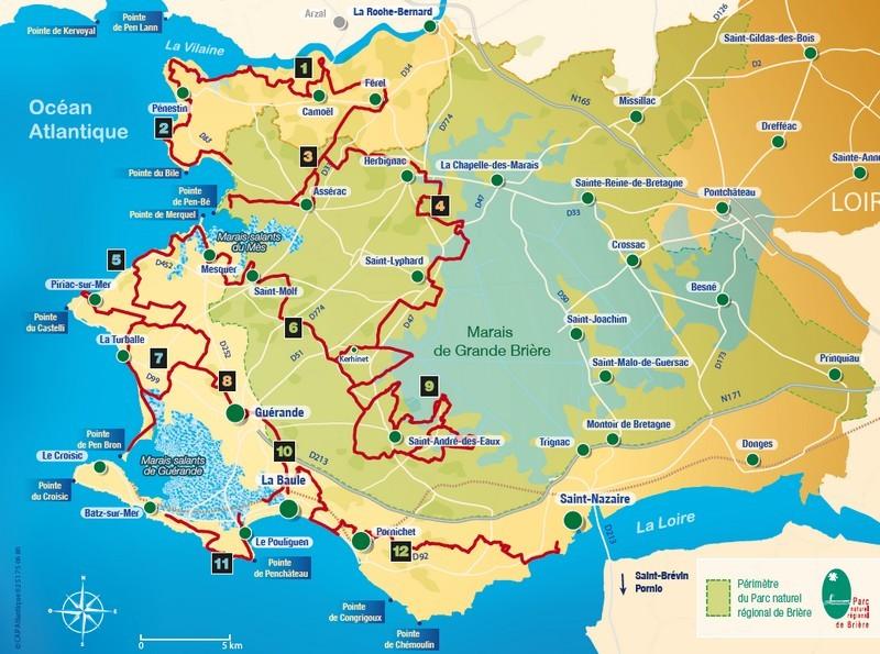 Les itinéraires à vélo