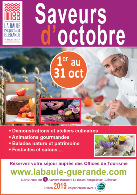 Saveurs d'Octobre 2019 - Office de Tourisme La Baule-Presqu'île de Guérande
