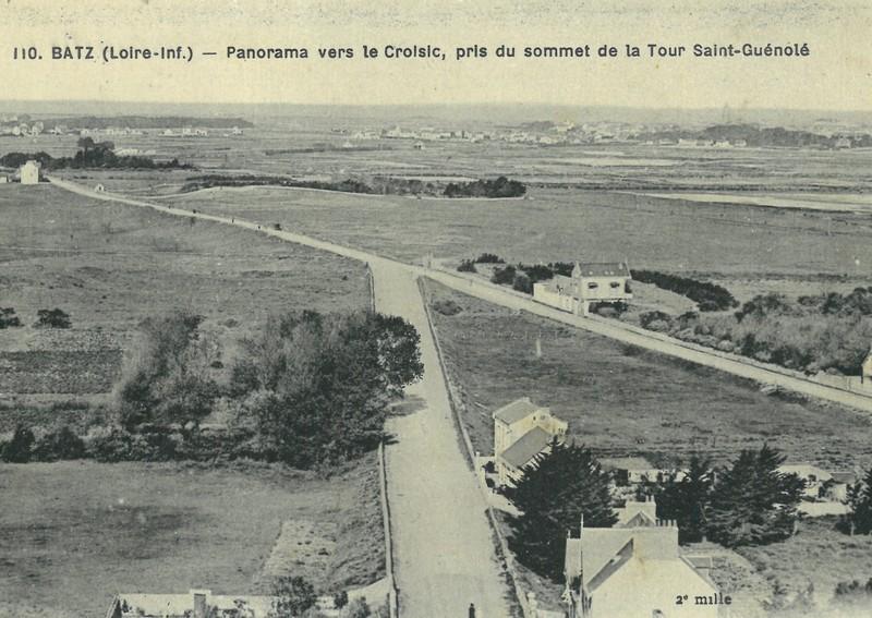 Carte postale ancienne - Site de la dune de la Falaise vue depuis la tour St-Guénolé - Batz-sur-mer