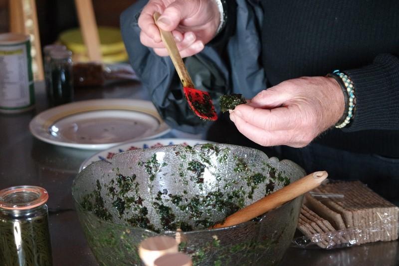 Dégustation du tartare d'algues