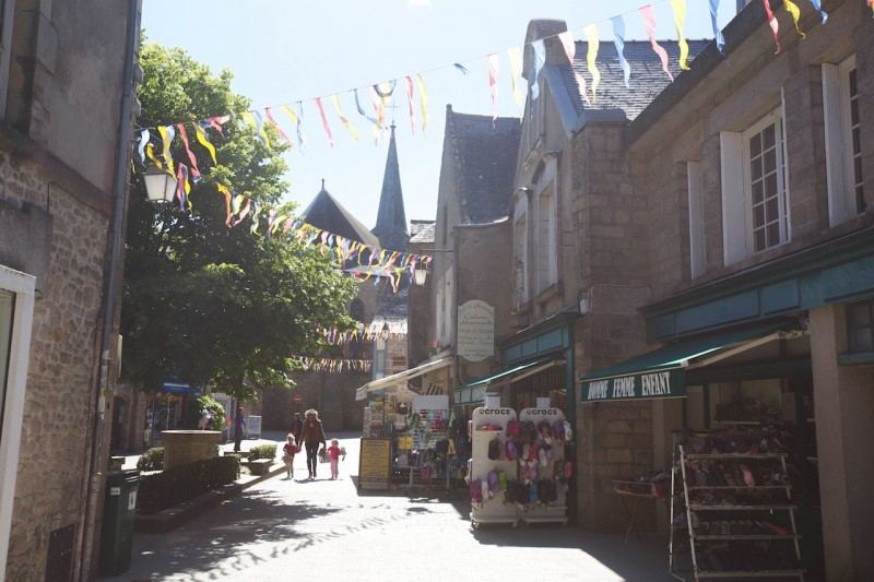 Guérande , rues commerrçantes