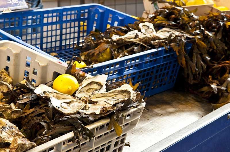 Huîtres sur le marché de Pornichet