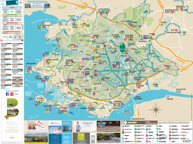 Plan touristique de la destination Bretagne Plein Sud
