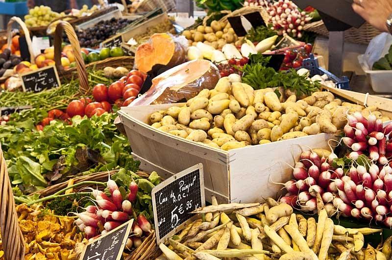 Légumes sur le marché de Pornichet