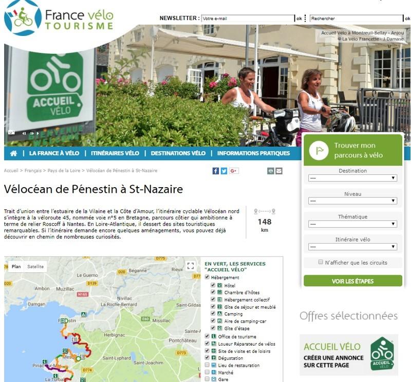 Visibilité de l'offre Accueil Vélo ®