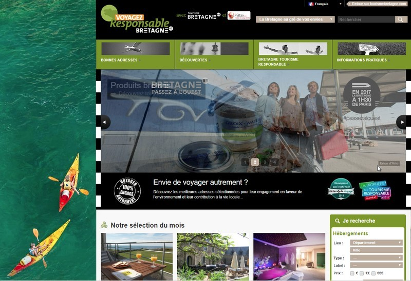 Voyagez Responsable Bretagne - Site internet