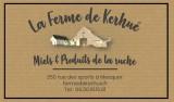 affiche-ferme de kerhue - miels et produits de la ruche mesquer