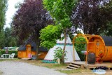Camping l'Etang du Pays Blanc - Guérande - Hébergement insolite - Tipi et Kota Barrel