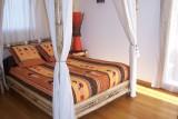 Chambre d'hôtes L'Océane au Pouliguen, lit à baldaquin