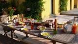 Chambre d'hôtes Ti dear Saint-Molf petit-déjeuner en terrasse