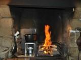 Cheminée, restaurant le Vieux Logis, grill au feu de bois, Guérande intra-muros