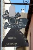 Guérande Intra-Muros Cité Médiévale Hotel Restaurant Crêperie Le Roc maria Enseigne