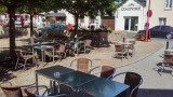 La fontaine centre ville de Missillac terrasse