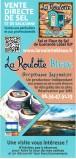 La Roulotte Bleue - visite des marais salants à Pradel,  Guérande - flyer