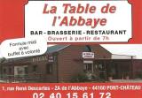 La table de l'abbaye restaurant dans la zone industrielle de Pontchâteau
