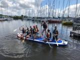 paddle géant au gre du vent