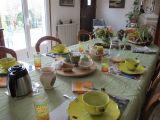Peti-déjeuner servi à la chambre d'hôtes située à La Chapelle des Marais en Brière