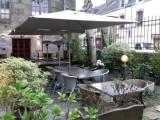 Guérande, intra-muros, proche collégiale, pizzéria-crêperie Le Logis, terrasse