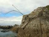 Plage de Convert au Pouliguen, pêcherie en bord de mer