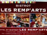 restaurant, Bistrot des Remp'Arts, proche cité médiévale, Guérande - Publicité