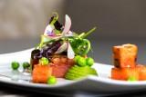 Restaurant Le Carpe Diem à La Baule - Assiette de saumon pastèque