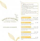 Santé et Naturel - leaflet