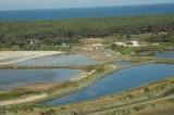 Guérande, marais salants, le Mulon de Pen Bron, vue aérienne de la saline