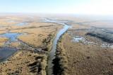 Vue aérienne des marais de Brière