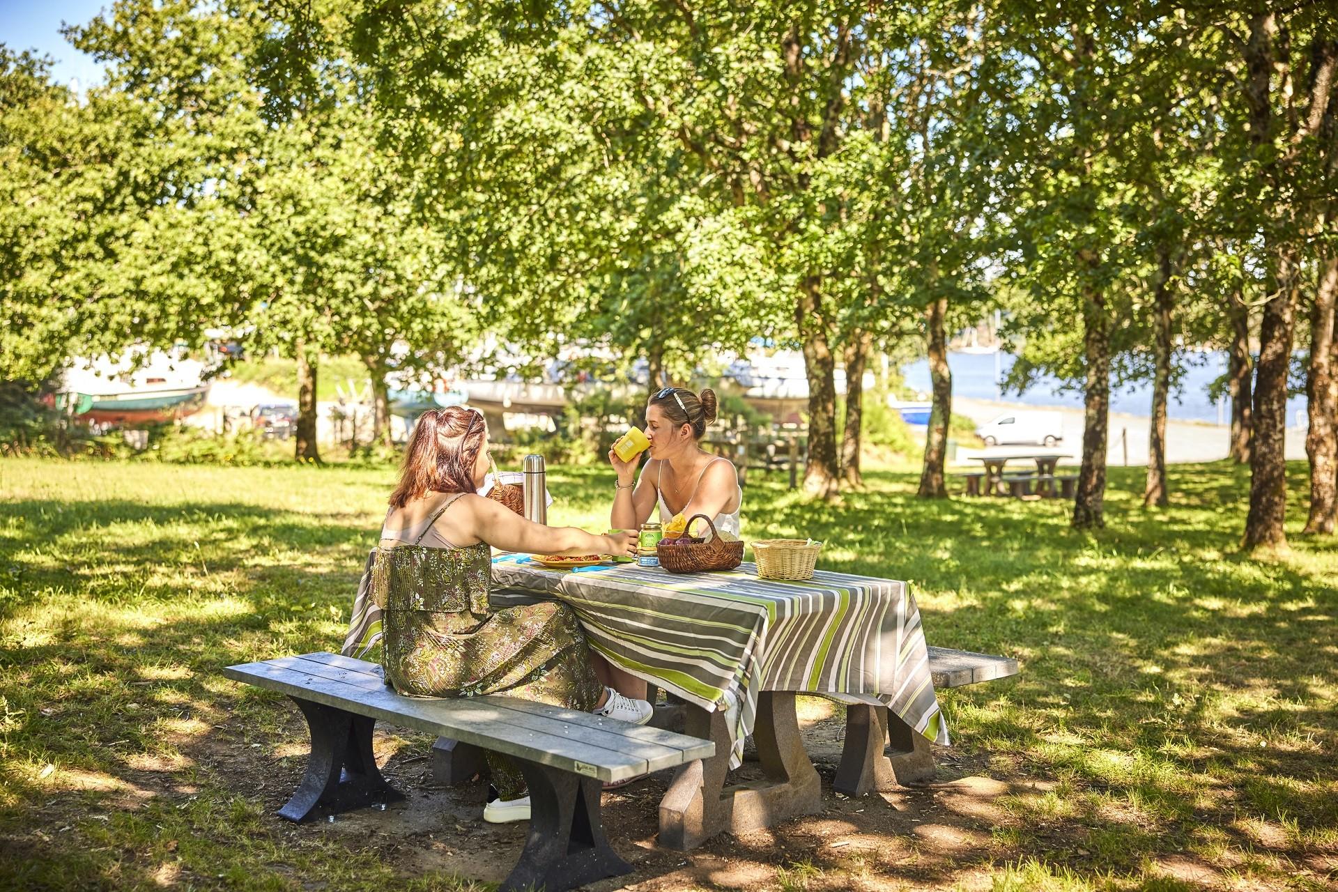 Aire de pique-nique sur les bords de Vilaine à Camoël