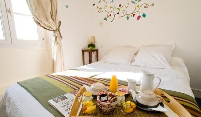 Chambre de l'hôtel de la Plage à Piriac