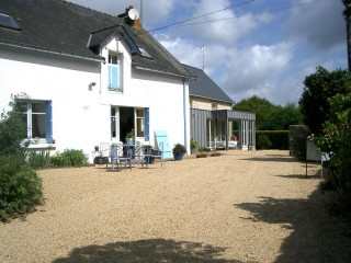 Guérande, bed and breakfast rooms La musardise in the landscape