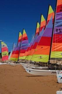 Les bateaux de l'école de voile Valentin à Batz-sur-Mer