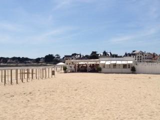 Les Bains du Nau au Pouliguen, l'accès sur la plage