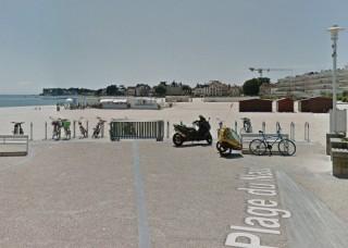 Stationnement vélos promenade de la plage Le Pouliguen