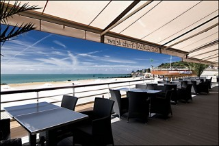 Terrasse Hôtel de la plage Pornichet Bretagne Plein sud