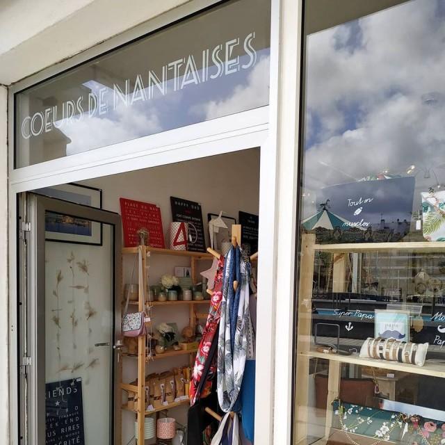 Devanture de la boutique Cœurs de Nantaise Le Pouliguen