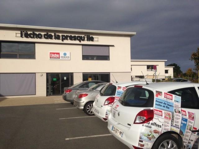 Guérande, locaux du journal hebdomadaire L' Echo de la Presqu'île