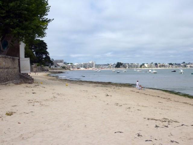 Plage de l'Anse de Toullain au Pouliguen, vue de la plage