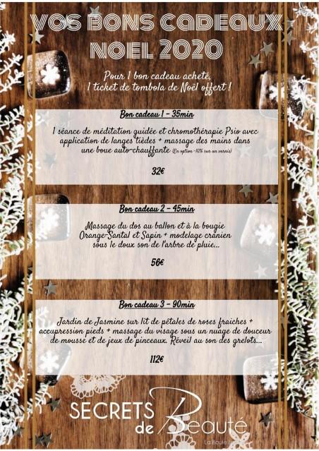 Secrets de beauté - institut La Baule - bon cadeau Noel 2020
