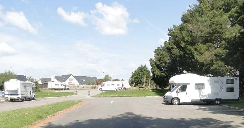 Aire de service pour camping-cars à Guérande.