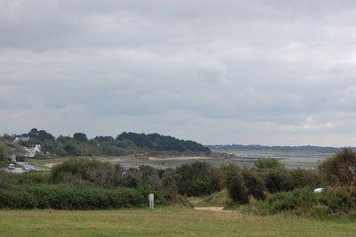 Aire naturelle de la ferme de Pen Bé , face à l'océan atlantique en Brière